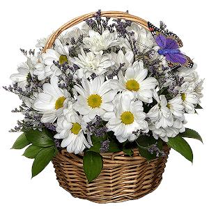 Корзина цветов В лучших традициях