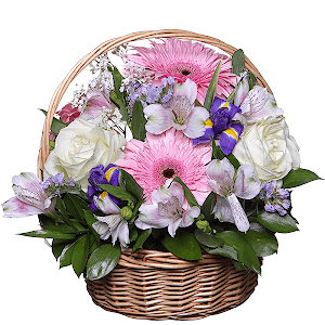 Корзина цветов Райский сад